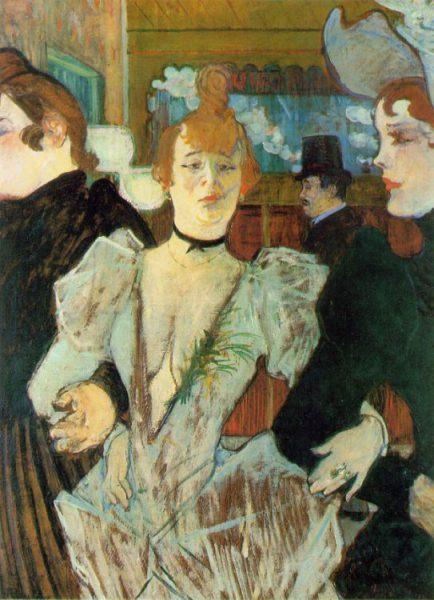Henri de Toulouse-Lautrec, La Goulue arriving at the Moulin Rouge (1892)