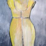 Dress Mannequin III. Mixed media on paper, 30 x 22 inches © Stewart Fletcher