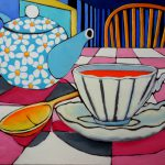 Hot Tea. oil on canvas, 50 x 52 inches © Stewart Fletcher