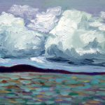 Clouds. oil on board, 8 x 10 inches © Stewart Fletcher