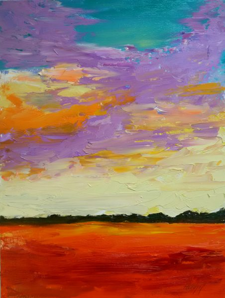 Dusk Lac Pilon. oil on Masonite, 12 x 16 inches © Stewart Fletcher