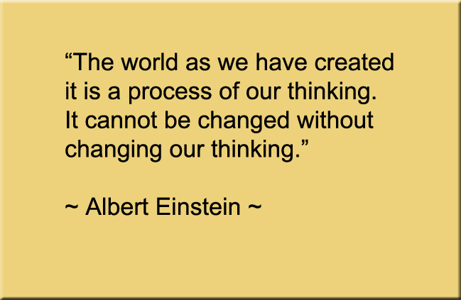 Change our thinking