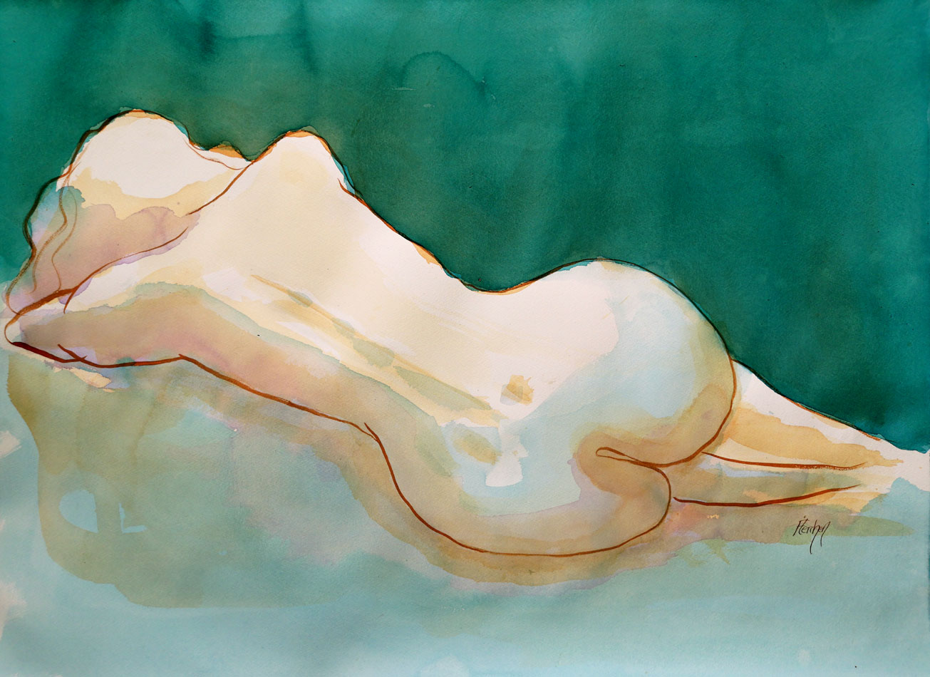 drawing-of-a-sleeping-nude-female-model