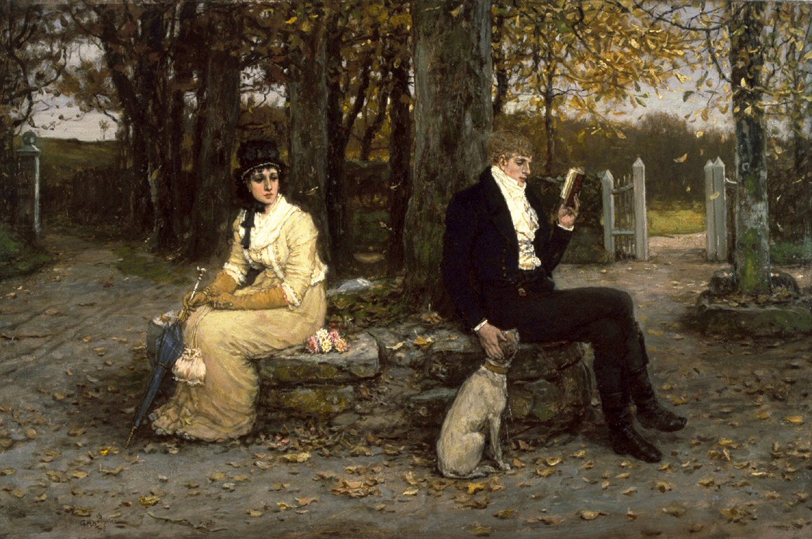The Waning Honeymoon by George Henry Boughton, 1878.