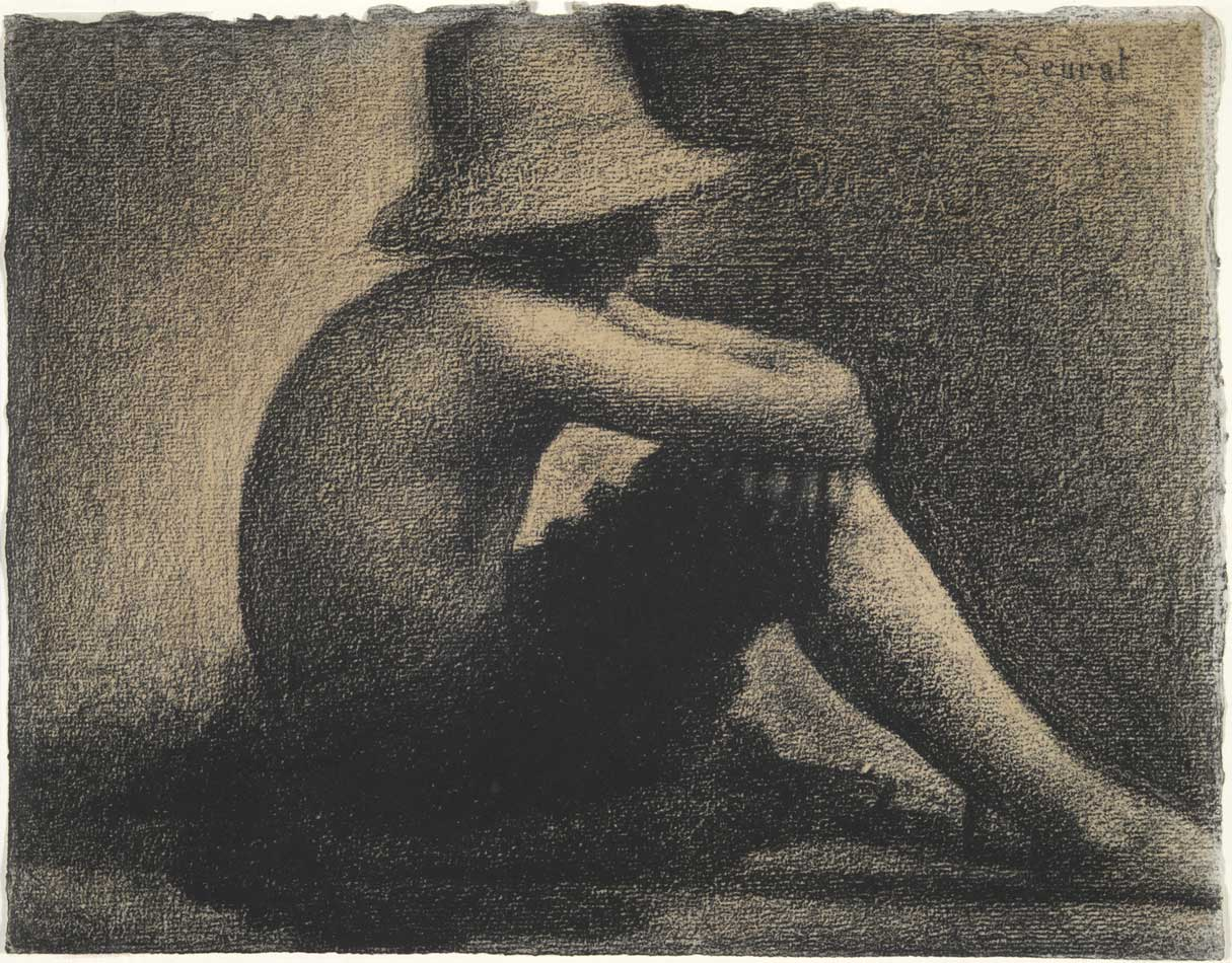 Georges Seurat study of a boy